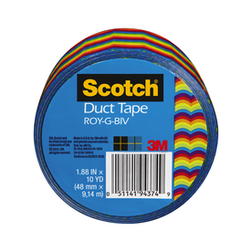 Scotch 1.88-in x 30-ft Rainbow Duct Tape