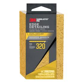 3M 4-1/2-in x 2-5/8-in x 1-in 320-Grit Sandblaster Pro Dual Angle Sanding Sponge