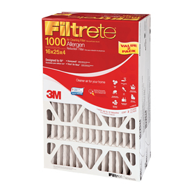 Filtrete 2-Pack Allergen Reduction Electrostatic Pleated Air Filters (Common: 16-in x 25-in x 4-in; Actual: 15.75-in x 24.4375-in x 4.31-in)