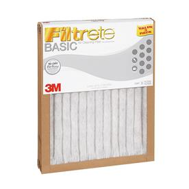 Filtrete 3-Pack Basic Pleated Pleated Air Filters (Common: 20-in x 30-in x 1-in; Actual: 19.6-in x 29.7-in x 0.8125-in)