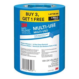 3M Safe-Release 4-Pack 1.41-in Painter's Tape