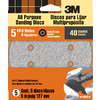 3M 5-Pack 40-Grit 5-in W x 5-in L Disc Sandpaper