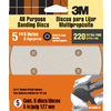 3M 5-Pack 220-Grit 5-in W x 5-in L Discs Sandpaper