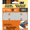 3M 5-Pack 120-Grit 5-in W x 5-in L Disc Sandpaper