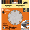 3M 15-Pack 80-Grit 5-in W x 5-in L Disc Sandpaper