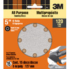 3M 15-Pack 120-Grit 5-in W x 5-in L Discs Sandpaper