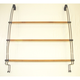 Better Bath Oil-Rubbed Bronze with Bamboo Rods Single Towel Bar (Common: 24-in; Actual:)