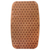 Better Bath 28.5-in x 17.25-in Brown/Tan Vinyl Bath Mat