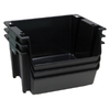 United Solutions 16-in W x 12-in H x 19-in D Black Plastic Bin