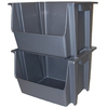 United Solutions 16-in W x 12-in H x 19-in D Silver Plastic Bin