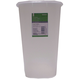 United Solutions 6-Quart Semi-Transparent Indoor Garbage Can