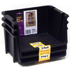 United Solutions 6-in W x 8-in H Black Plastic Bin