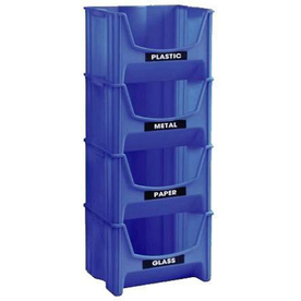 United Solutions 16-in W x 12.59-in H Blue Plastic Bin