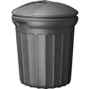 United Solutions 32-Gallon Black Outdoor Garbage Can