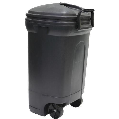 Mighty Tuff 34 Gallon Outdoor Garbage Can from Lowes Storage House