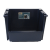 United Solutions 16-in W x 12-in H Navy Plastic Bin