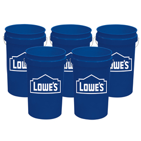 United Solutions 5-Pack 5-Gallon Plastic Paint Buckets