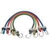 Secure Tite 4-Pack 0.83-ft Rubber Core Steel Hook Bungee Cords