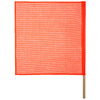 Secure Tite Safety Flag with Dowel 18-in x 18-in