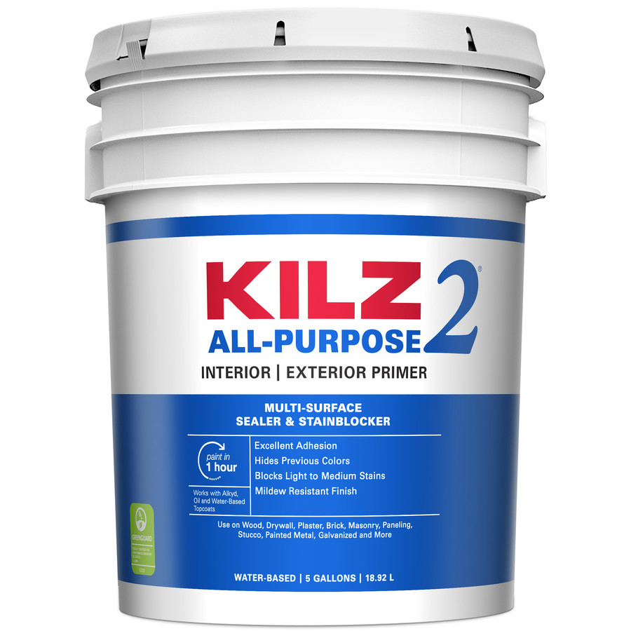 shop kilz 5 gallon size can interior latex primer actual. Black Bedroom Furniture Sets. Home Design Ideas