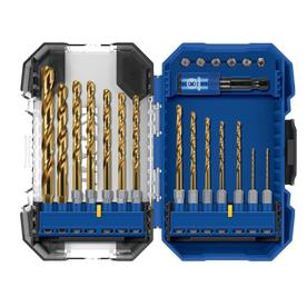 Kobalt 21-Pack Titanium Twist Drill Bit Set