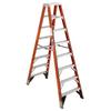 Werner 10-ft Fiberglass 375-lb Type IAA Twin-Step Ladder