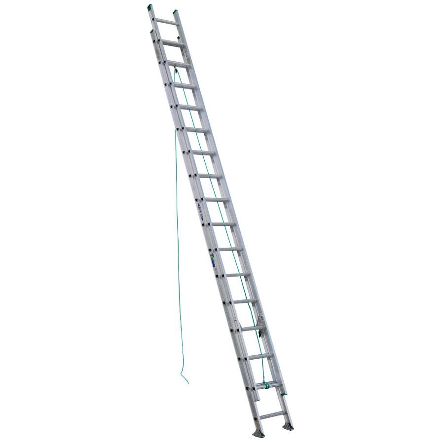 Shop Werner 32-ft Aluminum 225-lb Type II Extension Ladder ...