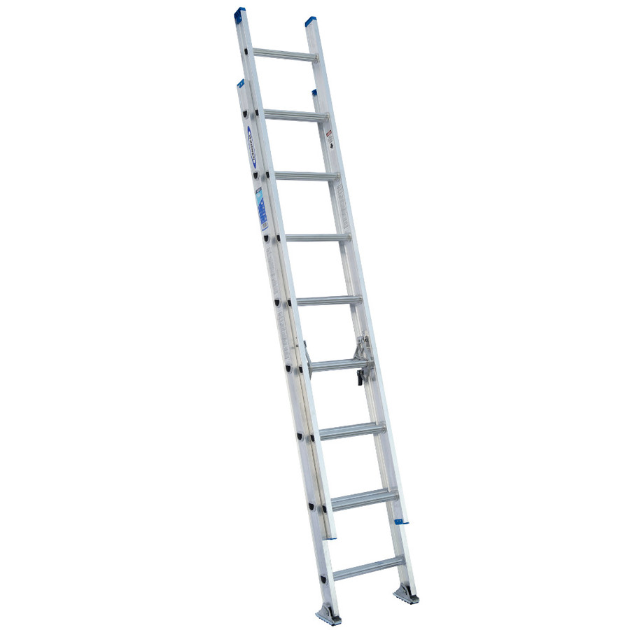 Shop Werner 16 Ft Aluminum 250 Lb Type I Extension Ladder