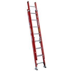 Werner 16-ft Fiberglass 300-lb Type IA Extension Ladder