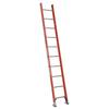 Werner 10-ft Fiberglass 300-lb Type IA Straight Ladder