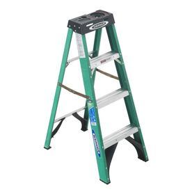 Werner 4-ft Fiberglass 225-lb Type II Step Ladder