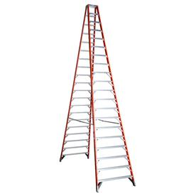 Werner 20-ft Fiberglass 300-lb Type IA Twin-Step Ladder