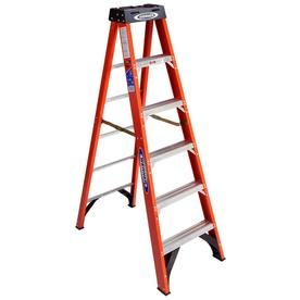 Werner 6-ft Fiberglass 300-lbs Type IA Step Ladder