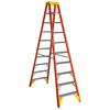 Werner 10-ft Fiberglass 300-lb Type IA Twin-Step Ladder