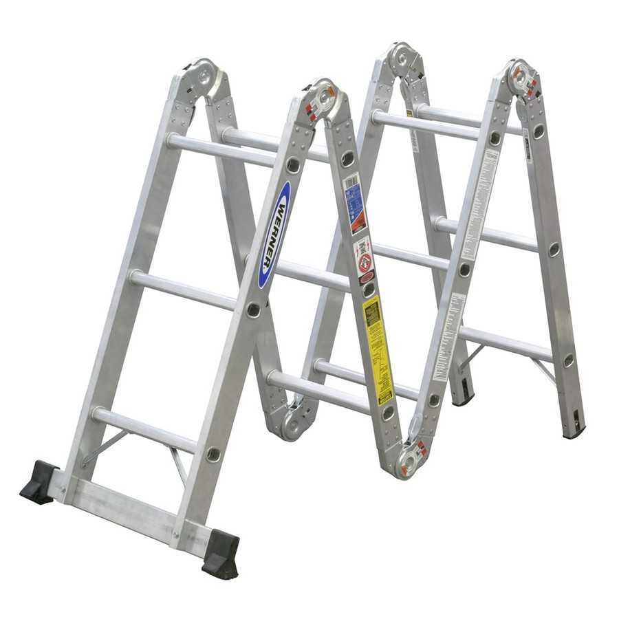 Shop Werner 12 Ft Aluminum 300 Lb Type Ia Multi Position
