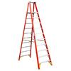 Werner 10-ft Fiberglass 300-lb Type IA Platform Ladder