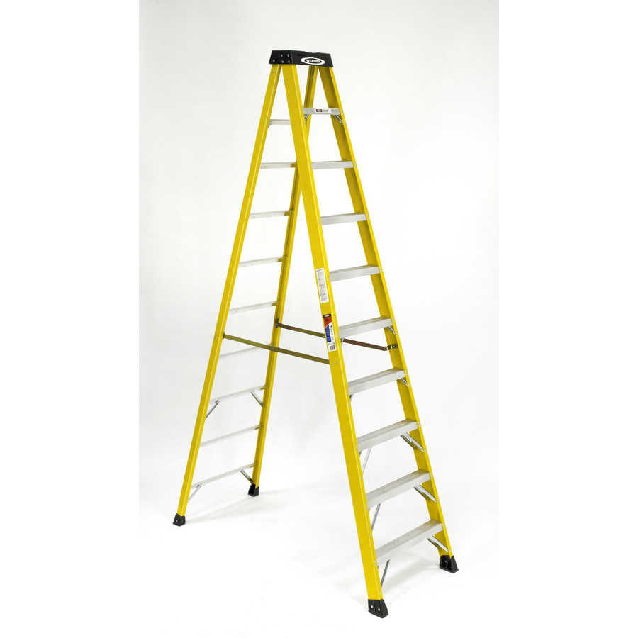 Shop Werner 10 Ft Fiberglass 300 Lb Type Ia Step Ladder At