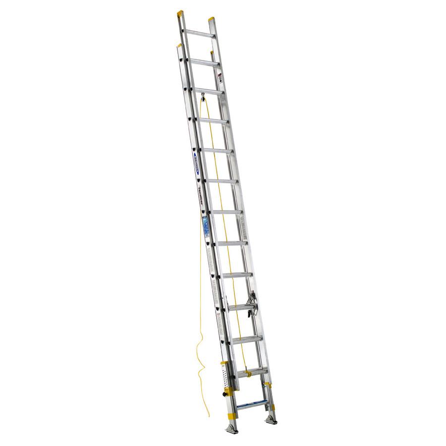 Shop Werner 24 Ft Aluminum 250 Lb Type I Extension Ladder