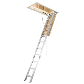 Werner 7.66-ft to 10.25-ft Type IAA Aluminum Attic Ladder
