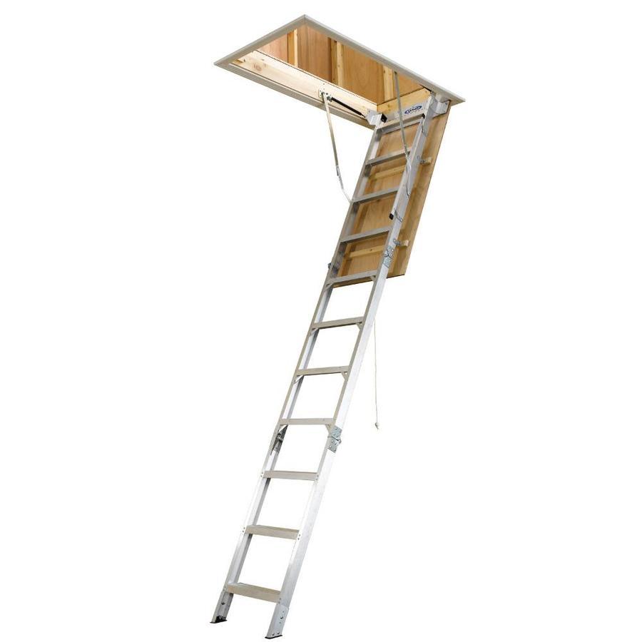 Werner Aluminum Attic Ladder - Long Installation Video -