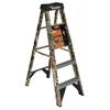Deals on Werner 5-ft Fiberglass 225-lb Type II Camo Step Ladder