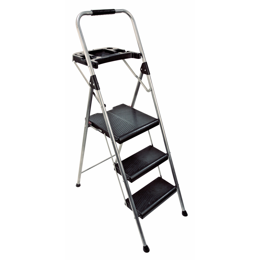 Shop Werner 3 Step Steel Step Stool At Lowes Com