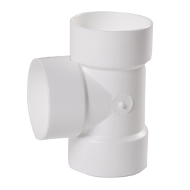 NDS 3-in Dia 90-Degree PVC Vent Tee Fitting