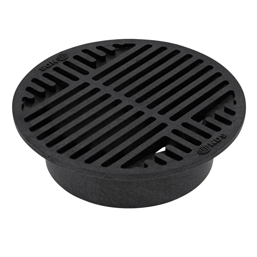 Shop Nds 8 In Dia Round Round Grate At Lowes Com