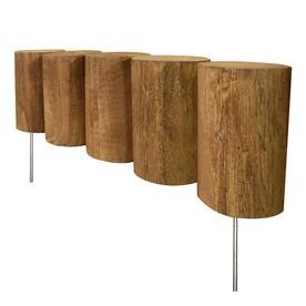 Greenes Full Log 1.25-ft Brown Wood Landscape Edging Section