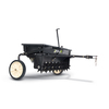 Blue Hawk 100 lb Capacity Tow-Behind Lawn Spreader