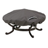 Classic Accessories Ravenna 44-in Dark Taupe Round Firepit Cover