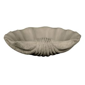 Kenroy Home 18-in H Scallop Shell Bowl Garden Statue