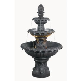 Shop kenroy home costa brava 46 in outdoor fountain at for Garden fountains lowes