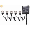 Portfolio 12x 0.5-Watt 5-Light Black Solar LED Step Light Kit